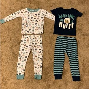 Set of 2 Carter's Dog Pajamas Size 3T